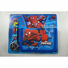 NEW Spiderman Spider-Man Children's Kids Boys Girls Watch Wallet Set Christmas