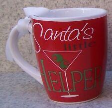 Jumbo Coffee Mug Santa's Little Helper NEW 24 ounce cup with gift box