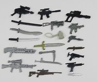 "random lot 20 GI Joe Cobra 3.75""  figure's  Accessories Guns sword  Weapons K9"