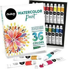 Watercolor Paint Set (36 Colors, 12 ml Tubes, 0.4 oz.)   Rich Pigment,Vibrant