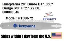 """Husqvarna 20"""" Guide Bar .050"""" Gauge 3/8"""" Pitch 72 DL 608000046 - 608 00 00-46"""