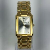 John Weitz Mens LJW432 Diamond Accent Gold Tone Stainless Steel Band Watch