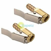 Tyre Valve Air Hose Airline Inflator Connector Brass Clip on Car 8mm Truck 2pc