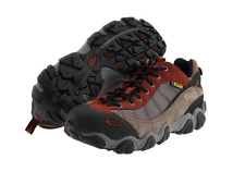New Oboz Mens Firebrand II Bdry Waterproof Brown Leather Hiking Boots Size 11