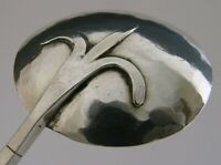 STUNNING STERLING SILVER ARTS & CRAFTS JAM SPOON c1920 PLANNISHED 20g