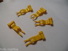 Lego 5 drapeaux jaunes 6345 4177 6554 545 / 5 yellow flag 1 x 4 wave