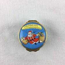 """Christmas 1999"" Parachuting Santa - Halcyon Days Enamel"