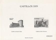 SELLOS ESPAÑA 2009. PRUEBA DE IMPRESIÓN CALCOGRÁFICA CASTILLOS 2009. NUEVA.
