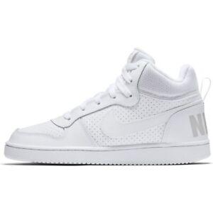 NIKE COURT BOROUGH MID GS scarpa sportiva alta ragazzo/a 839977 100 SCONTO 30%