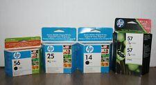 HP Inkt cartridge lot hp 14 black hp 25 color hp 56 black hp 57 color 2-pack
