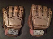 Valken Tac Paintball Gloves finger-less Tan (Medium/large adjustable) Hardback