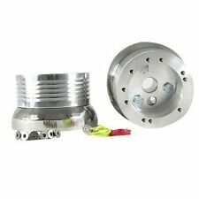 Flaming River Column Polished Billet Aluminum 5 & 6 Hole Steering Wheel Adapter