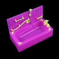 Accessori per bambole vasche da bagno con vasche da bagno in plastica bagno CRIT