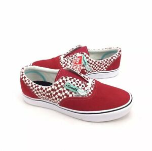NEW Vans Era ComfyCush Checkerboard Red White Mens Skate Shoes Sneakers Size 11