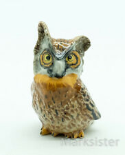 Figurine Animal Ceramic Statue Owl Bird - CBO019