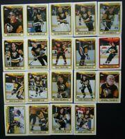 1990-91 Topps Pittsburgh Penguins Team Set of 19 Hockey Cards