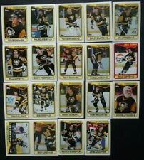 1990-91 Topps Pittsburgh Penguins Team Set of 19 Hockey Cards