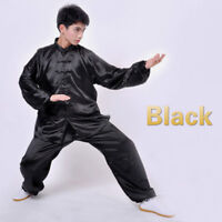 Chinese Style Traditional Tai Chi Uniform Kung Fu Suit Long Seleeve Jacket Pants
