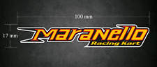 Maranello Racing Kart 100 mm x 17 mm Autocollant/Autocollant-Karting-go-kart