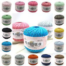 NEW Wholesale! Sale popular colors Lace Soft Crochet Cotton yarn hand knitting