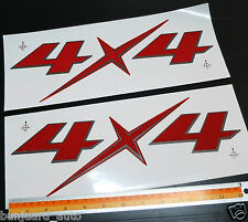 2PC 4X4 LOGO STICKER BADGE DECALS PLATE DMAX D-MAX HILUX VIGO RANGER BT50 NAVARA