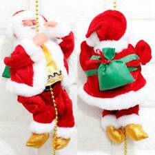 Christmas Electric Climbing Beads Xmas Santa Claus Music Plush Dolls Toys Decor