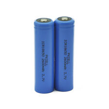 2x PKCELL Li-ion Rechargeable Vape Battery ICR 18650 2600mAh 3.7V Button Top
