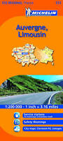 Auvergne, Limousin Michelin Regional Map (Michelin Regional Maps), Michelin, New
