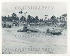 1962 Crowd Watches Swamp Buggy Derby Press Photo