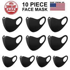 10 Pack Face Mask Reusable Washable Breathable Unisex Black Face Mask
