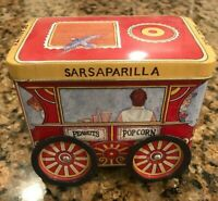 Tinscapes 1994 Collectible Tin The Popcorn Wagon