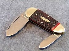 BULLDOG KNIVES, 2007 BULLDOG SUNFISH POCKET KNIFE, FIGHTING DOGS BLADE ETCH