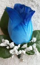 35 Rose Boutonniere*Corsage royal blue white wedding *Best man Quinceanera