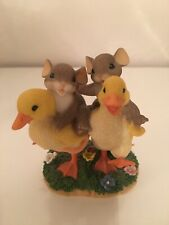 """Charming Tails by Fitz & Floyd """"Waddle We Do Without Friends"""" Great Condition"""