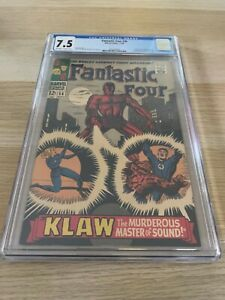 Fantastic Four 56 CGC 7.5 OW/WHITE