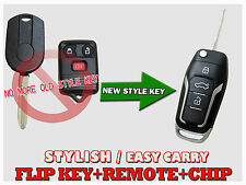 New Style FORD EDGE Escape Flip Transponder Chip Entry Key Remote Fob KF2