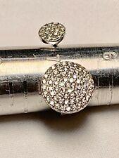 JTV Cluster Split Ring 925 Sterling Silver Size 7, Sparkly