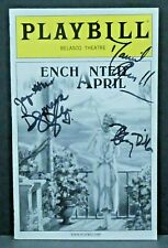 Enchanted April Hand Signed Autographed Playbill