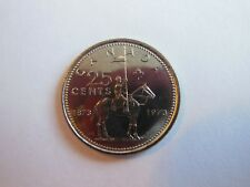 Canada 1973 25 cents UNC Canadian Quarter from mint bank roll!!