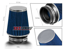 "3.5 Inches 3.5"" 89 mm Cold Air Intake Cone Narrow Air Filter BLUE Ford"