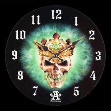 Horloge murale avec tete mort Prince of Oblivion Montre Alchemy Gothic Crâne