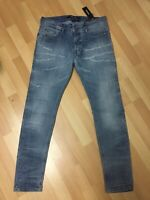 MADE ITALY Mens Diesel DNA SLEENKER Stretch Denim 0689M Blue Slim W33 L31 H5.5
