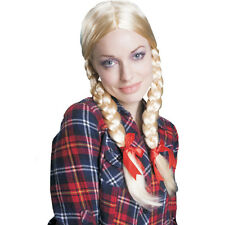 Dress Up America Adulto Donna Parrucca Bionda Intrecciato comodo