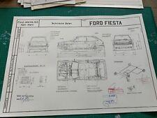 Limitierter ARTprint Ford Fiesta I Ab 1976 Konstruktionszeichnung