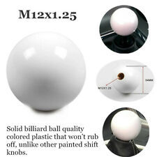 BLACK//WHITE VINTAGE SHIFT KNOB FOR 5 SPEED SHORT THROW SHIFTER 10X1.25 K07