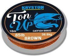 Kryston Ton up catfish braid 85lbs brown