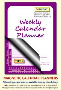 PURPLE A5 MAGNETIC CALENDAR PLANNER, BESPOKE, CHOOSE START MONTH, YEAR & TYPE