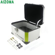 OutBack Silver Motorcycle Monokey Top Case Luggage Rear Box  Aluminum Waterproof