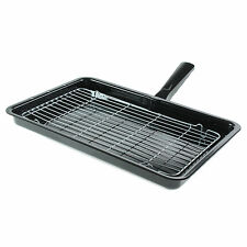 For Tricity Bendix Universal Enamel Grill Pan & Detachable Handle 360 x 240mm