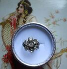Superbe bague ancienne Marguerite Art Nouveau 1900 1920 argent brillants